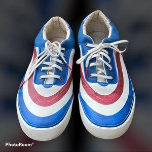 Alexander McQueen & Puma Red, White, & Blue Shoes